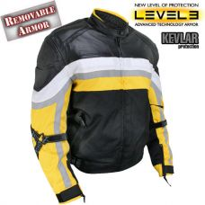 Men's Armored Black and Yellow Tri-Tex Fabric a...